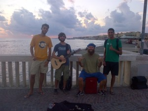 Friends we made busking in Ostia, Italy - Europe street performing
